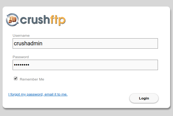crushftp login page