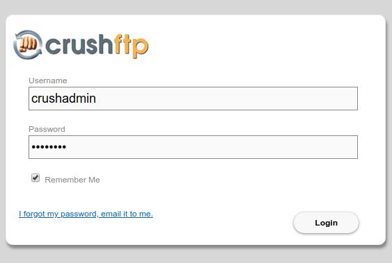 crushftp login page